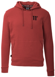 11degrees Brick Red Core Pullover Hoodie