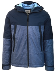 Jack & Jones Navy Blazer Hooded Winter Jacket