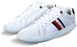 Tommy Jeans White Essential Leather Cupsole Trainers