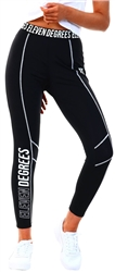 11degrees Black Active Contrast Coverstitch Leggings