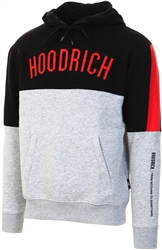 Hoodrich Heather Grey/Black/Red Og Panel V2 Hoodie