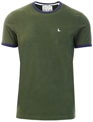 Jack Wills Khaki Pentworth Ringer Tee