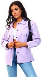 Vivichi Lilac Leah Plain Classic Thick Shacket