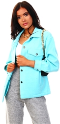 Vivichi Mint Leah Plain Classic Thick Shacket