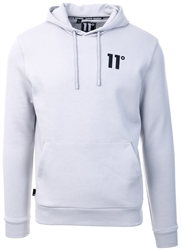 11degrees Vapour Grey Core Pullover Hoodie