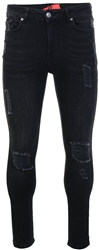 11degrees Washed Black Essential Super Stretch Skinny Distressed Jean