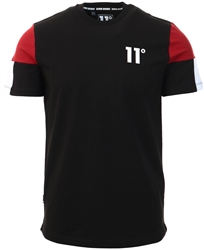 11degrees Black / Brick Red / White Carbon Tee