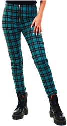 Missi London Green Check Tarten Trousers