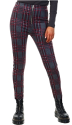 Missi London Red Check Tarten Trouser
