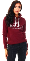 Jack Wills Damson Hunston Embroidered Hoodie