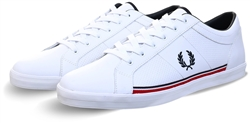 Fred Perry White Baseline Trainers