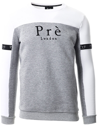 Pre London White/Grey/Marl Pre Eclipse Sweater