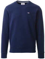 Tommy Jeans Twilight Navy Regular Fleece C Neck Sweater