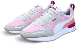Puma Pink Lady-White-Gray Violet R78 Runner Trainers