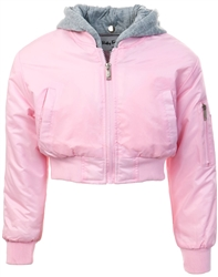 Ruby Tuesday Pink Junior Arlo Bomber Jacket
