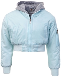 Ruby Tuesday Blue Junior Arlo Aqua Bomber Jacket