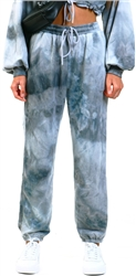 Saint Genies Grey Tie Dye Trousers