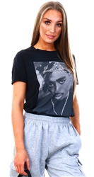 Only Black/Print 2pac Life Tee