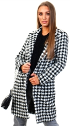 Jdy Black / Black Houndstooth Jacket