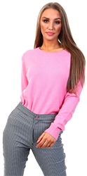 Vila Pink / Wild Rose Round Neck Knitted Pullover