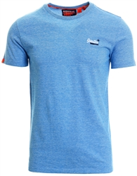 Superdry Royal Blue Feeder Orange Label Embroidery T-Shirt