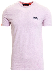 Superdry Pink Pale Marl Orange Label Organic Cotton Vintage T-Shirt