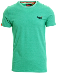 Superdry Crafted Green Feeder Orange Label Vintage Embroidered T-Shirt