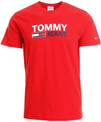 Tommy Jeans Deep Crimson Large Logo Organic Cotton T-Shirt