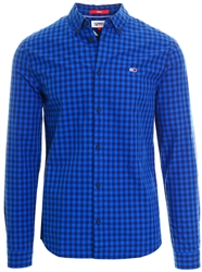 Tommy Jeans Cobalt Essential Gingham Shirt