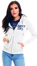 Superdry Applique Summer Marl Serif Zip Hoodie