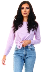 Only Purple / Orchid Bloom Texture Knitted Pullover