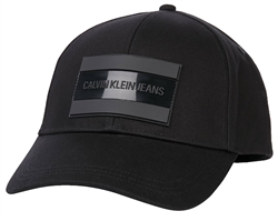 Calvin Klein Black Cotton Twill Cap