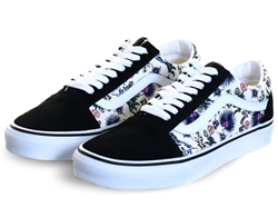 Vans Orchid/True White Paradise Floral Old Skool Shoes