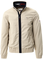 Tommy Jeans Soft Beige Essential Zip-Thru Bomber Jacket