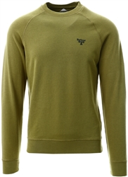 Barbour Beacon Military Olive Crew Sweatshirt