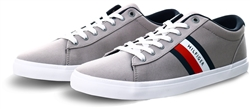 Tommy Jeans Antique Silver Essential Pure Cotton Trainers