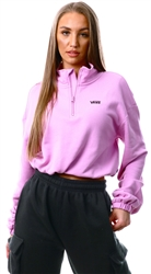 Vans Orchid Left Chest Half Zip Fleece