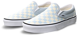 Vans Baby Blue/True White Checkerboard Classic Slip-On Shoes