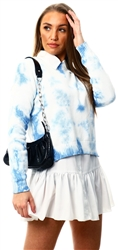 Brave Soul Blue Tie Dye Knitted Jumper