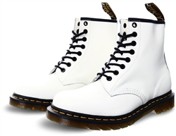 Dr Martens White 1460 Smooth Leather Ankle Boots