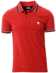 Guess Red Triangle Logo Polo