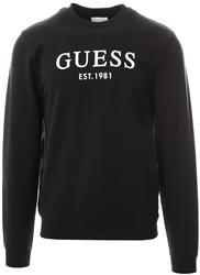 Guess Black Front Logo Sweatshirt