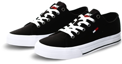 Tommy Jeans Black Low-Top Flag Trainers