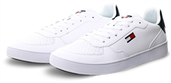 Tommy Jeans White Essential Flag Leather Cupsole Trainers