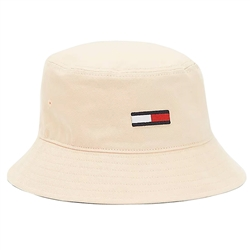 Tommy Jeans Supercane Flag Embroidery Organic Cotton Bucket Hat