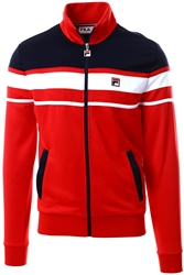 Fila Red Gordon Colour Block Track Jacket