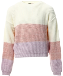 Urban Bliss Colour Block Junior Knit Crop Jumper