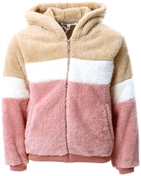 Urban Bliss Colour Block Junior Teddy Jacket