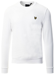 Lyle & Scott White Crew Neck Sweatshirt