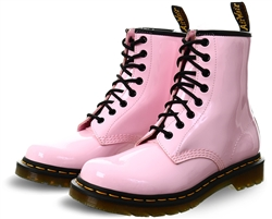 Dr Martens Pale Pink 1460 Patent Leather Ankle Boots